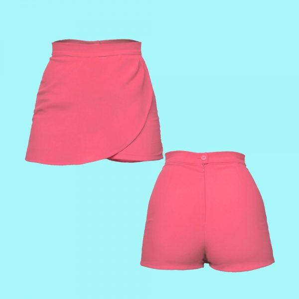 Short trouser skirt pink