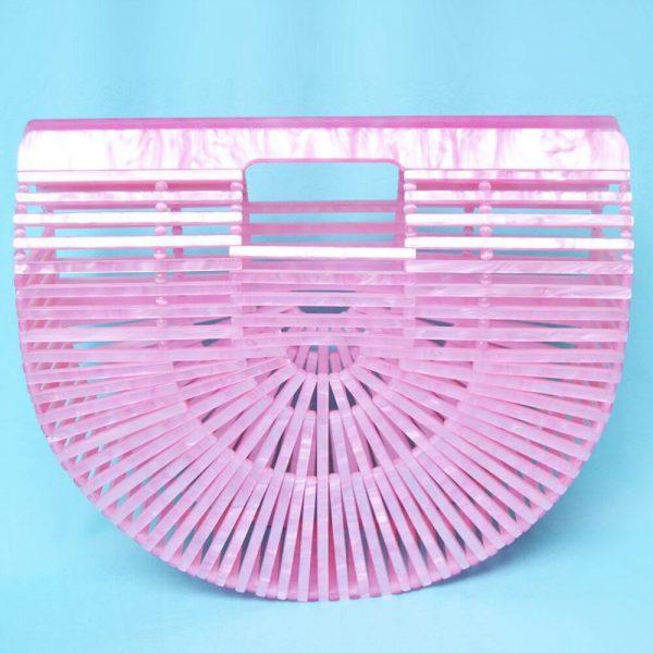 bolso acrilico rosa vintage