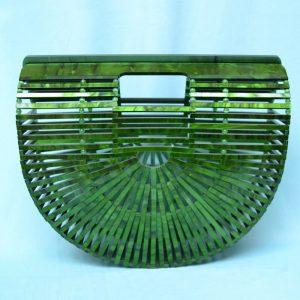 Retro style acrilic handbag