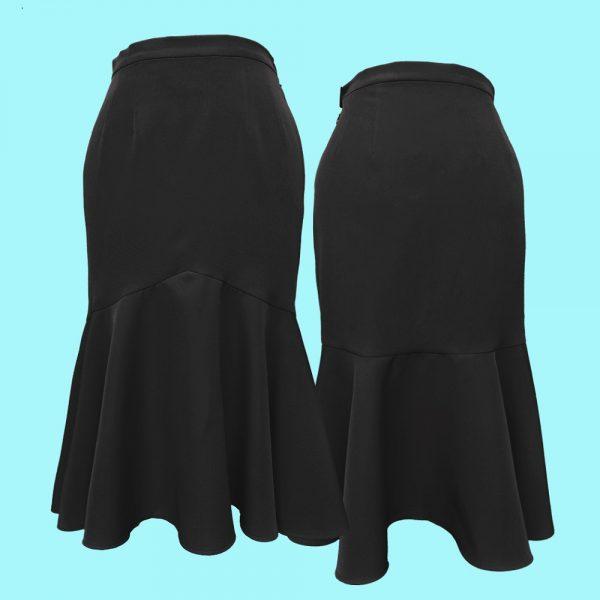 falda vuelo sirena negra