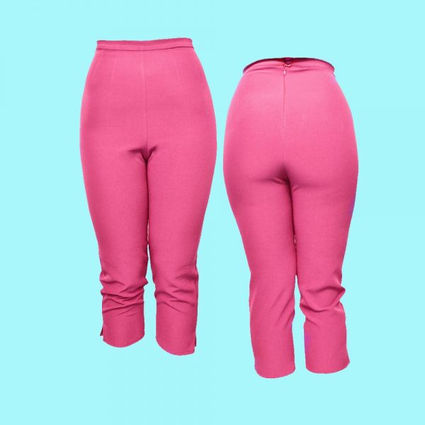 pantalon capri rose