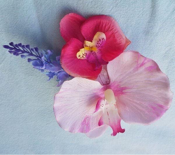orchid hair clip close