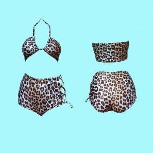 bikini retro leopardo