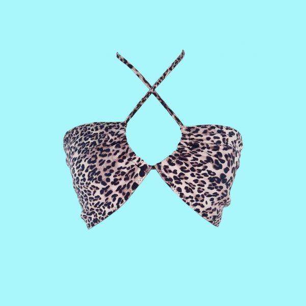 Leopard print Wrap bralette
